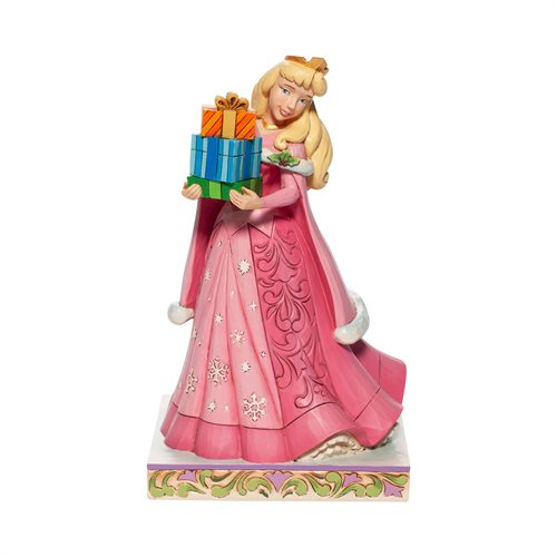 Disney Traditions Sleeping Beauty Aurora Christmas Gifts of Joy Statue by Jim Shore