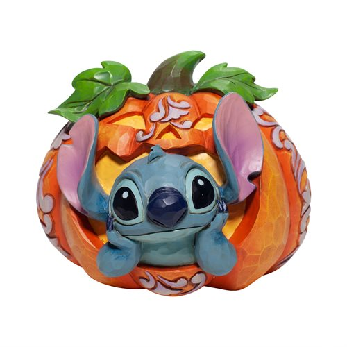 Disney Traditions Stitch in Jack-o'-Lantern Statue by Jim Shore