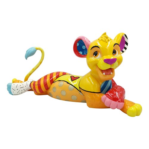 Disney Lion King Simba Big Fig Statue by Romero Britto