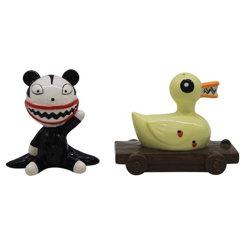 Disney Nightmare Before Christmas Scary Teddy and Killer Duck Salt and Pepper Shaker Set
