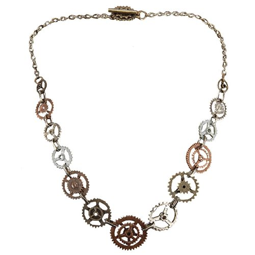 Steampunk Single Chain Gear Necklace