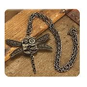Steampunk Antique Dragonfly Gear Necklace