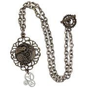 Steampunk Antique Butterfly Gear Necklace