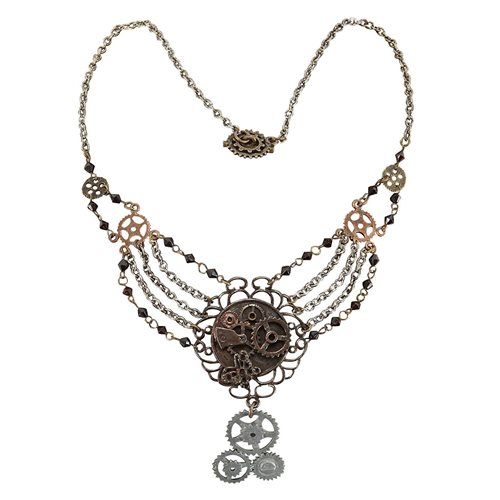 Steampunk Antique Gear Chain Necklace