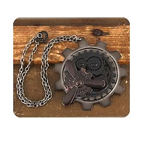 Steampunk Large Antique Gear Propeller Pendant