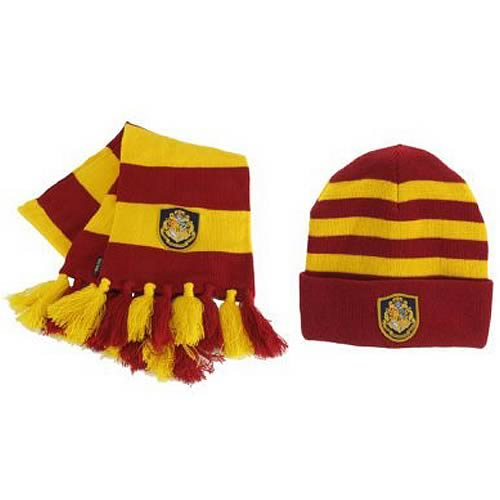 Harry Potter Hogwarts Knit Hat and Scarf Set