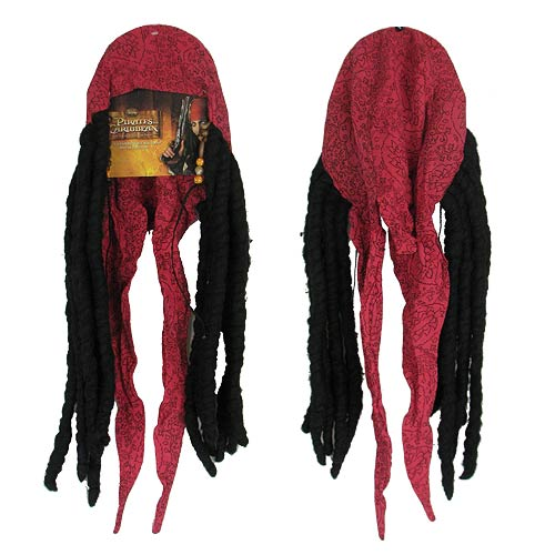 Pirates of the Caribbean Jack Sparrow Bandana with Dreads