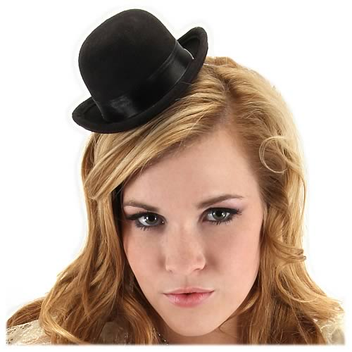 Steampunk Mini Black Bowler Hat