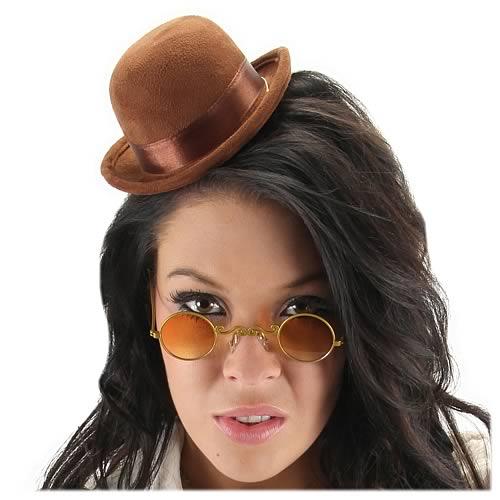 Steampunk Mini Brown Bowler Hat