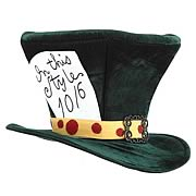 Alice In Wonderland The Mad Hatter Hat