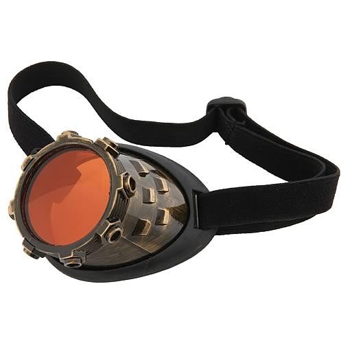 Steampunk CyberSteam Gold/Orange Eye Patch