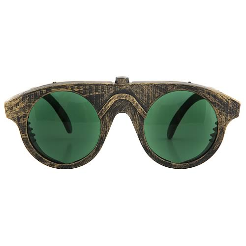 Steampunk Gold/Green Forgeman Glasses
