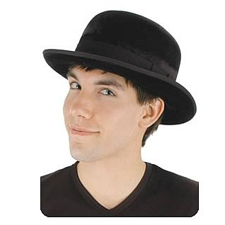 Steampunk Black Bowler Hat