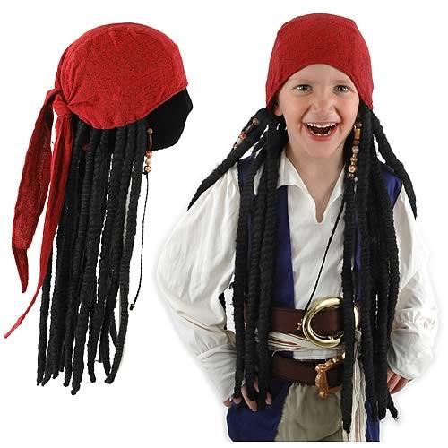 POTC Jack Sparrow Headscarf with Dreadlocks