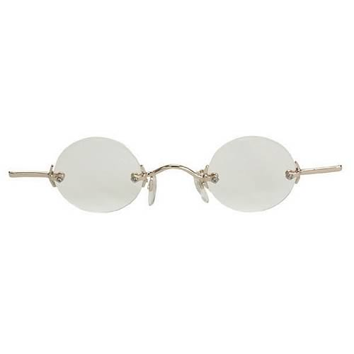 Steampunk Gold/Clear Fu Man Chu Glasses