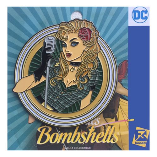 DC Bombshells Black Canary Badge Pin