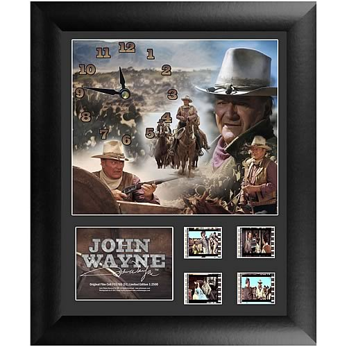 John Wayne Series 1 Film Cell Clock