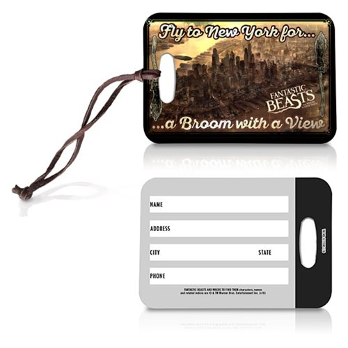 Fantastic Beasts Broom with a View Luggage Tag