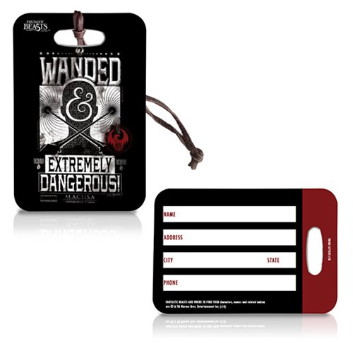 Fantastic Beasts Wanded Poster Black Luggage Tag