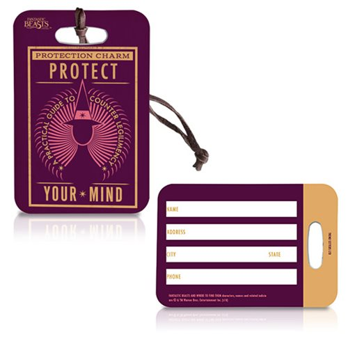 Fantastic Beasts Protection Charm Luggage Tag
