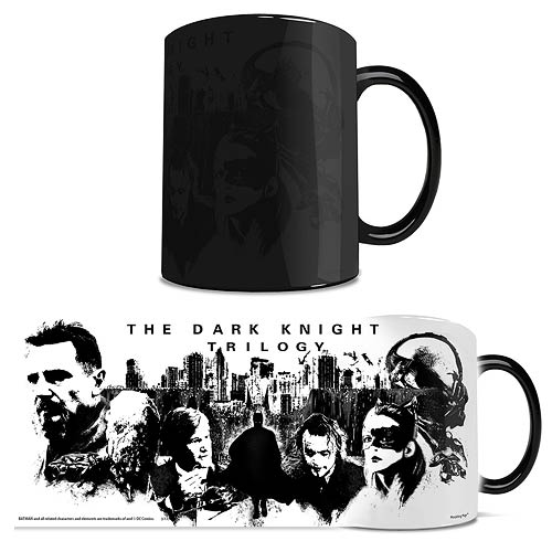 Batman Dark Knight Trilogy Black and White Morphing Mug