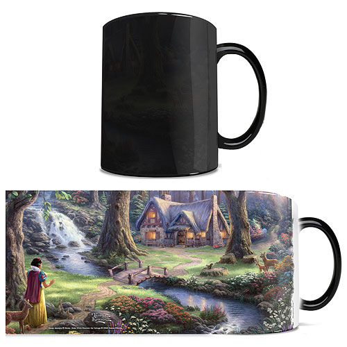 Disney Snow White and the Seven Dwarfs Thomas Kinkade Studios Morphing Mug