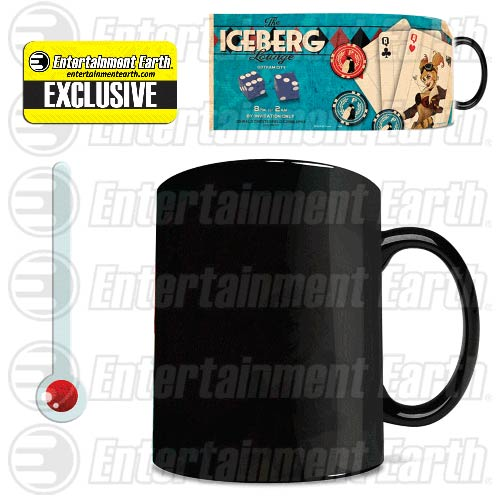 DC Comics Justice League Iceberg Lounge Harley Quinn Bombshells Morphing Mug - Entertainment Earth Exclusive