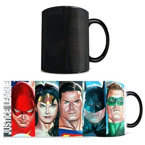 Justice League by Alex Ross DC Comics Morphing Mug