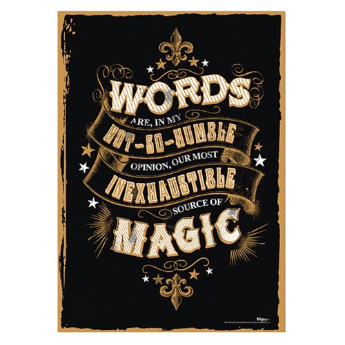 Harry Potter Magic Words MightyPrint Wall Art Print