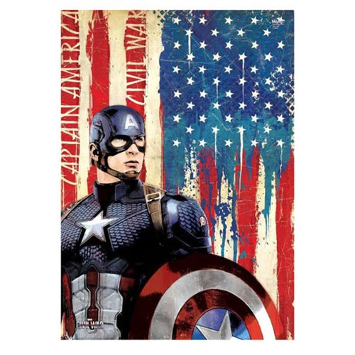 Captain America: Civil War Cap MightyPrint Wall Art Print