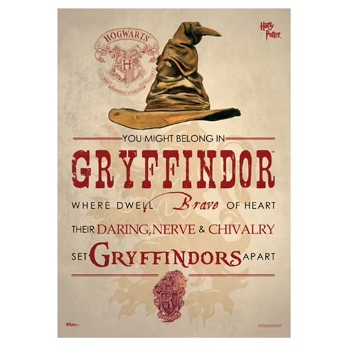 Harry Potter Sorting Hat Gryffindor MightyPrint Wall Art Print
