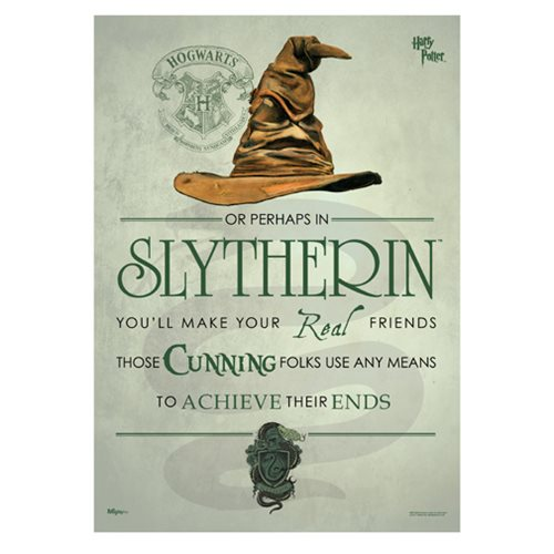 Harry Potter Sorting Hat Slytherin MightyPrint Art Print
