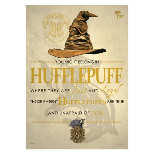 Harry Potter Sorting Hat Hufflepuff MightyPrint Art Print