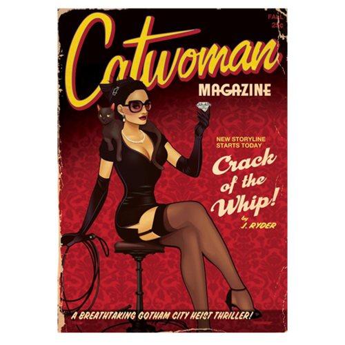 DC Comics Bombshells Catwoman Magazine MightyPrint Art Print
