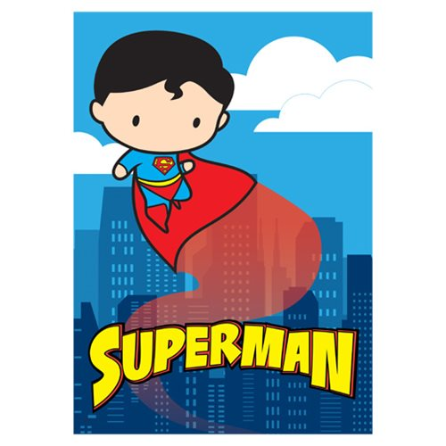 DC Comics Justice League Cartoon Superman MightyPrint Wall Art Print