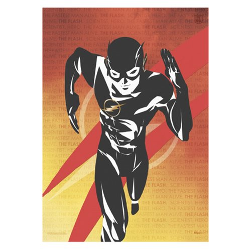 Justice League The Flash Words MightyPrint Wall Art