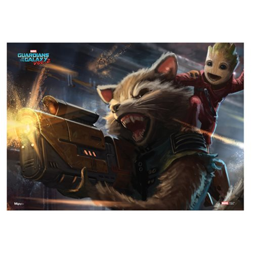 Guardians of the Galaxy Vol. 2 Rocket & Baby Groot Art Print