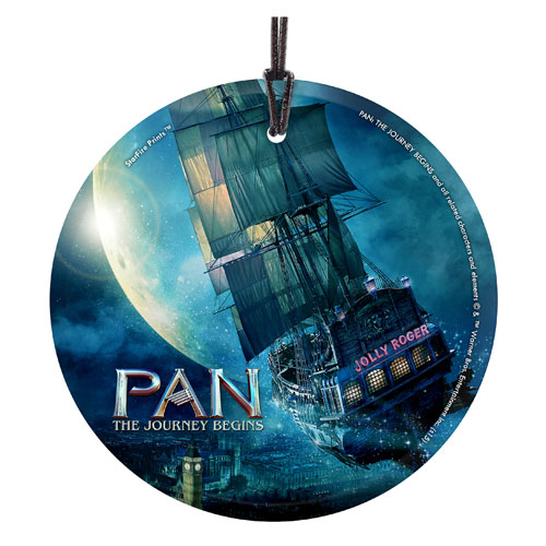 Pan The Journey Begins Jolly Roger StarFire Prints Ornament