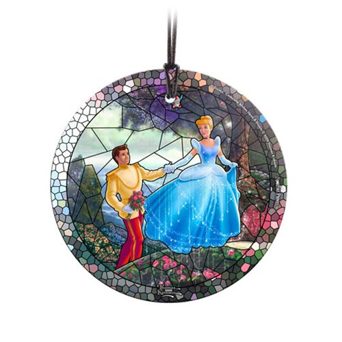 Disney Cinderella Stained Glass Effect Thomas Kinkade Starfire Prints Glass Ornament