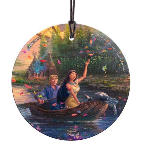 Disney Pocahontas Thomas Kinkade StarFire Prints Hanging Glass Print