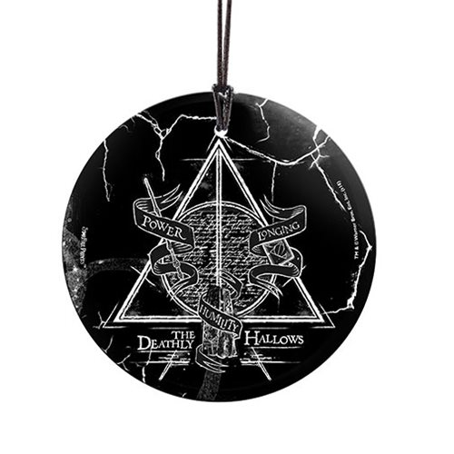 Harry Potter Deathly Hallows StarFire Prints Hanging Glass Ornament