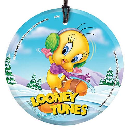 Looney Tunes Tweety Skating Hanging Glass Print