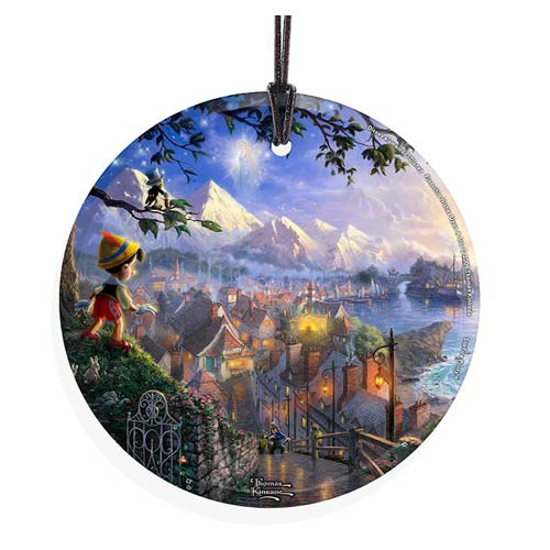 Pinocchio Wish Upon a Star Hanging Glass Print