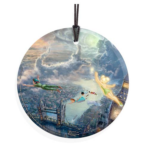 Peter Pan Tinker Bell Fly to Neverland Glass Print
