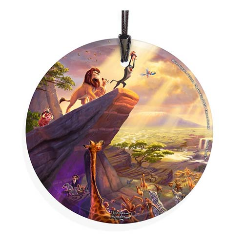Lion King Thomas Kinkade StarFire Prints Hanging Glass Print