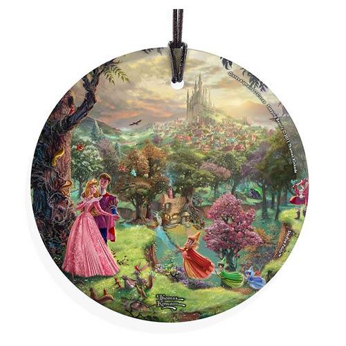 Sleeping Beauty by Thomas Kinkade StarFire Prints Hanging Glass Print