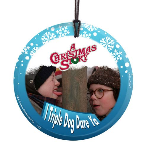 A Christmas Story Triple Dog Dare StarFire Glass Print