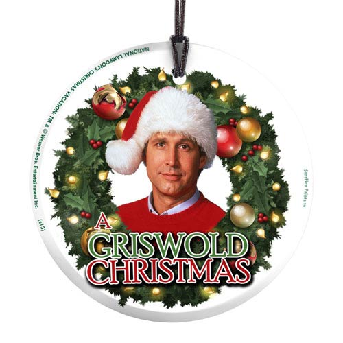 National Lampoons Christmas Vacation Griswold Christmas Hanging Glass Print