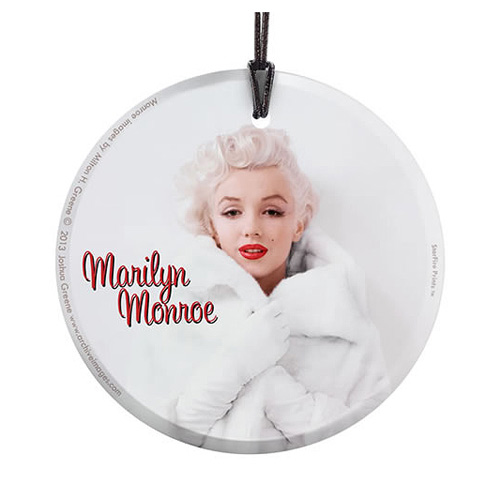 Marilyn Monroe White Fur Hanging Glass StarFire Print