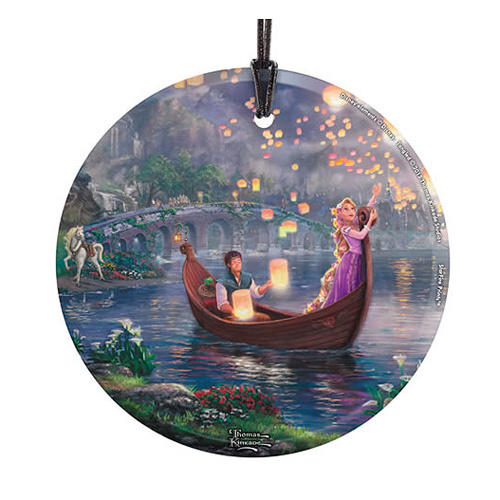 Tangled In the Boat by Thomas Kinkade StarFire Prints Hanging Glass Print